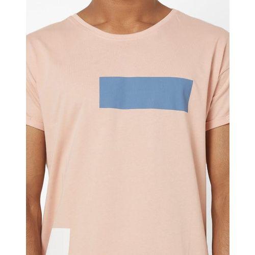 AJIO Printed Slim Fit Crew-Neck T-shirt