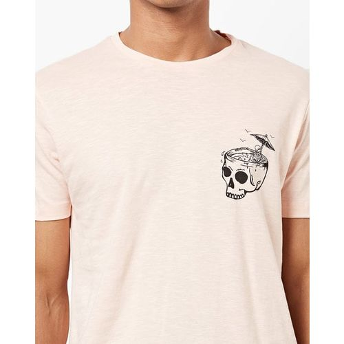 AJIO Graphic Placement Print Crew-Neck T-shirt