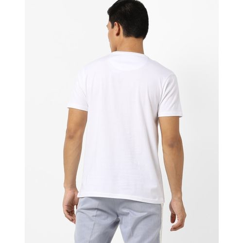 AJIO Graphic Print Crew-Neck Slim Fit T-shirt