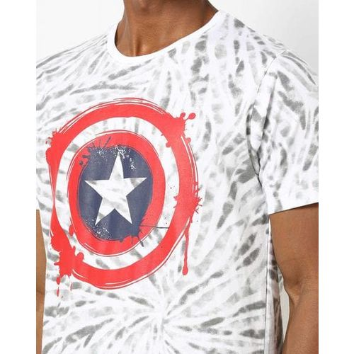 DISNEY Captain America Print Crew-Neck T-shirt