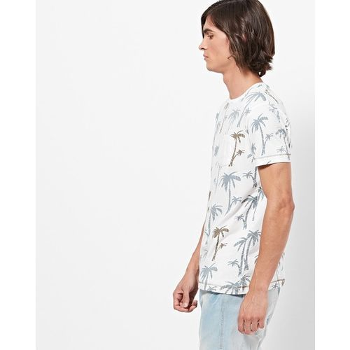 Teamspirit Graphic Print Crew-Neck T-shirt with Patch Pocket