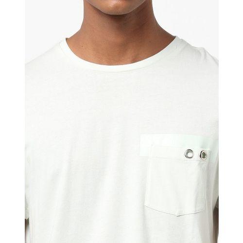 AJIO Slim Fit Crew-Neck T-shirt with Patch Pocket