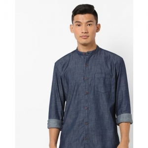 Nature Casuals Slim Fit Shirt with Patch Pocket
