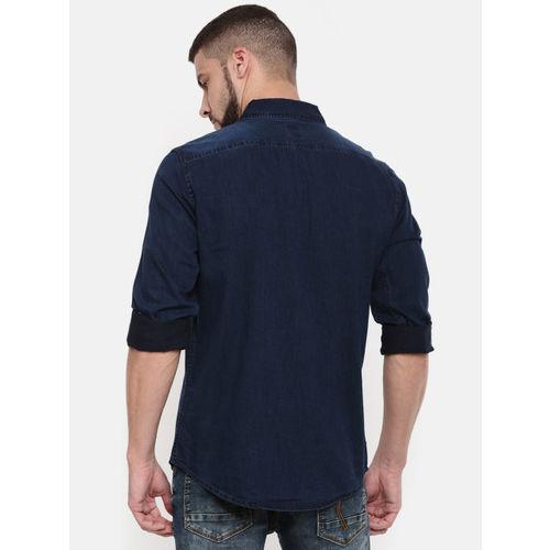 Being Human Clothing Men Blue Regular Fit Denim Casual Shirt