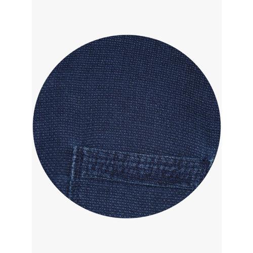 Numero Uno Blue Solid Slim Fit Casual Shirt