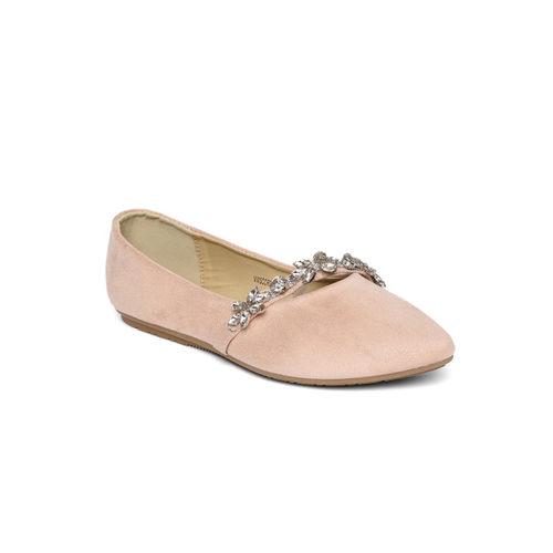 Van Heusen Women Pink Solid Ballerinas