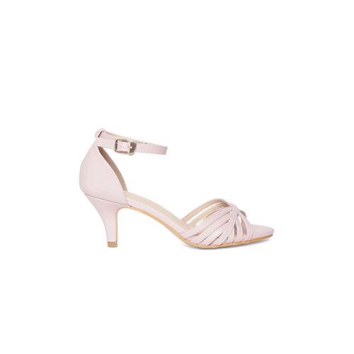 Van Heusen Women Pink Solid Slim Heels