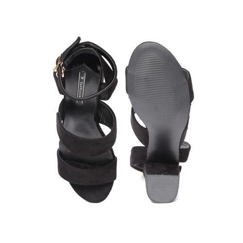 Van Heusen Women Black Solid Heels
