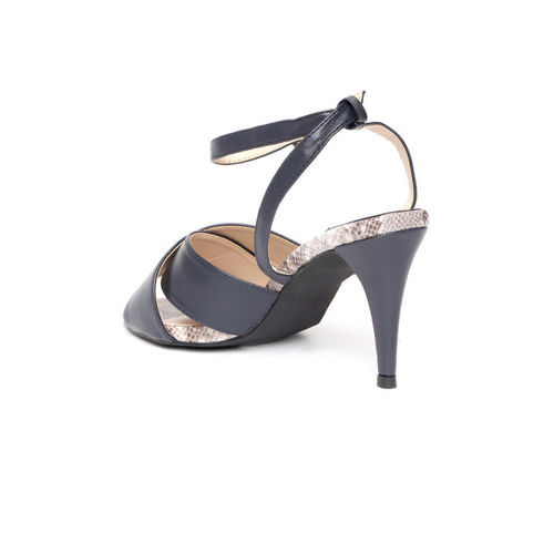 Van Heusen Women Navy Blue Solid Heels
