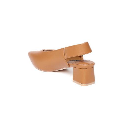 Van Heusen Women Tan Brown Solid Pumps