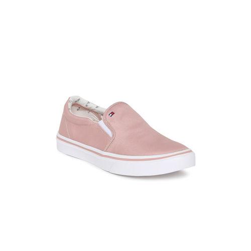 Tommy Hilfiger Women Dusty Pink Slip-On Sneakers