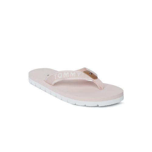 Tommy Hilfiger Women Pink Solid Thong Flip-Flops