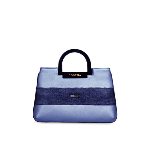 ESBEDA Blue Textured Handheld Bag