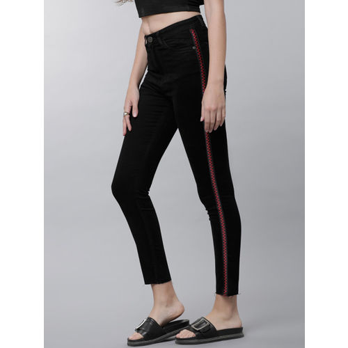 Tokyo Talkies Women Black Super Skinny Fit Mid-Rise Clean Look Stretchable Jeans