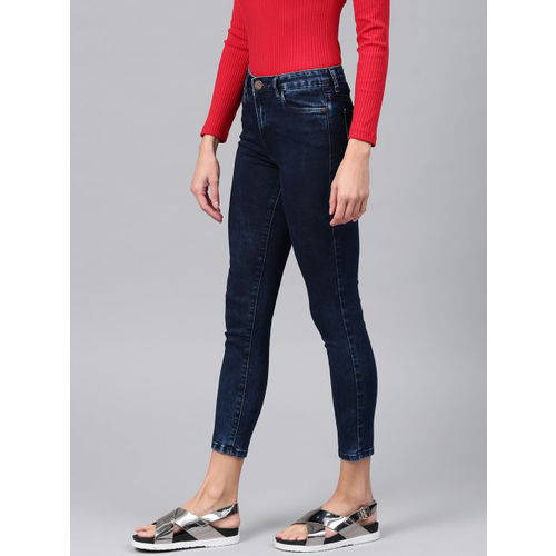 Tokyo Talkies Women Blue Super Skinny Fit Mid-Rise Ankle-Length Stretchable Jeans