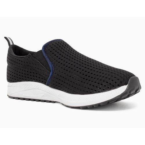 Avant Black Rubber Bolt Slip On Training Shoes