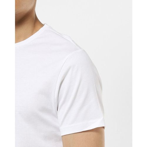 AJIO Slim Fit Crew-Neck T-shirt with Placement Print