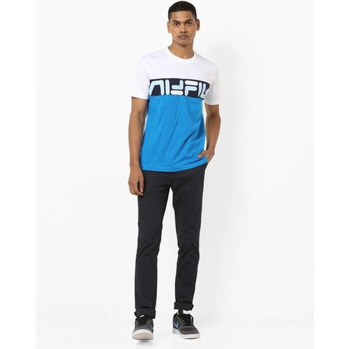FILA Russ Colourblock Crew-Neck T-shirt