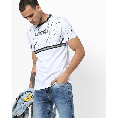 AJIO Printed Crew-Neck T-shirt