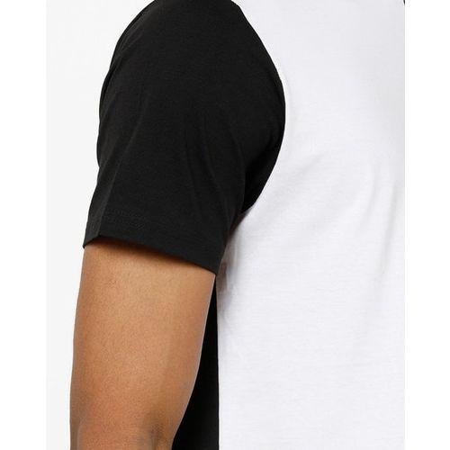 AJIO Slim Fit Colourblock Crew-Neck T-shirt