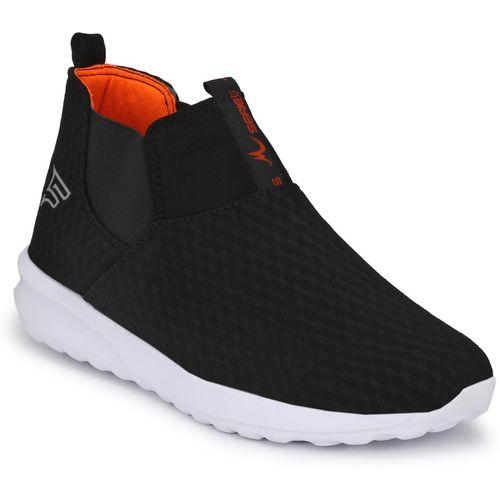 Fentacia Black Mesh Slip-on Training & Gym Shoes