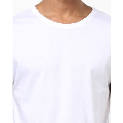 AJIO Crew-Neck T-shirt with Contrast Taping