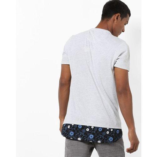 AJIO Slim Fit Crew-Neck T-shirt