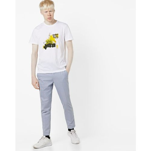 AJIO Graphic Print Crew-Neck T-shirt