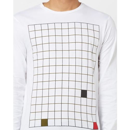 AJIO Printed Crew-Neck T-shirt