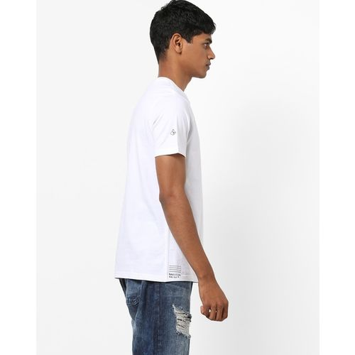 AJIO Crew-Neck T-shirt with Placement Print