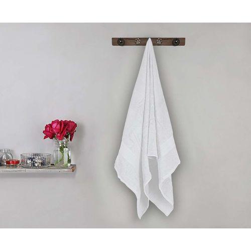 Bombay Dyeing Cotton 450 GSM Bath Towel(White)