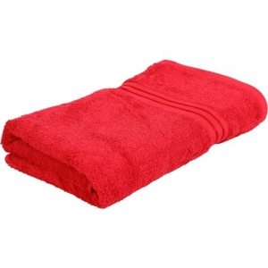 Bombay Dyeing Cotton 550 GSM Bath Towel(Red)