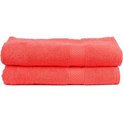 Trident Cotton 400 GSM Bath Towel(Pack of 2, Orange)