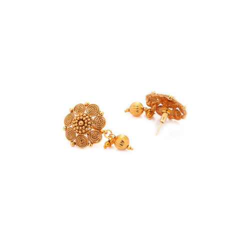 Rubans Gold-Plated Floral Drop Earrings