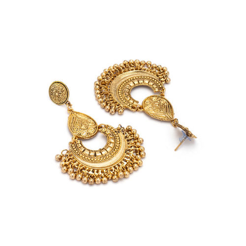 Rubans Gold-Toned Handcrafted Classic Chandbalis