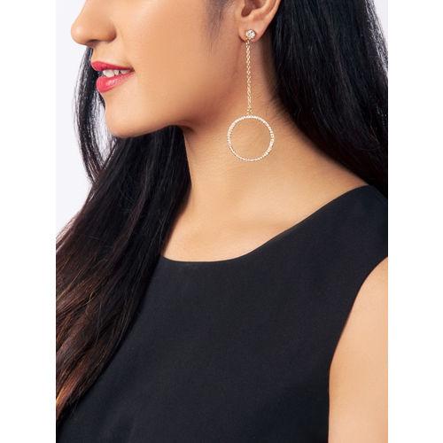 Rubans Gold-Toned Classic Drop Earrings