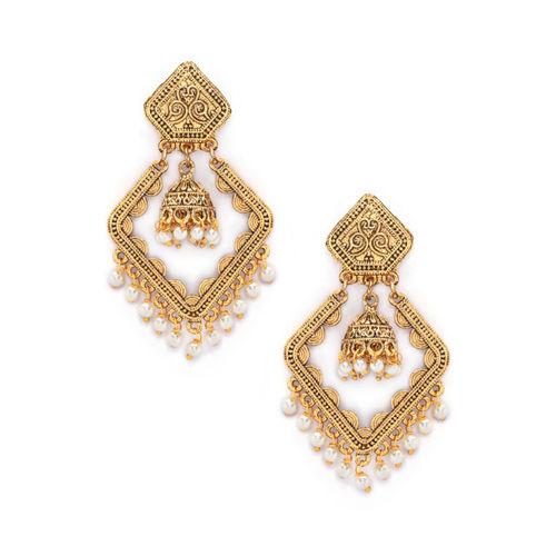 Rubans Gold-Toned Handcrafted Classic Chandbalis