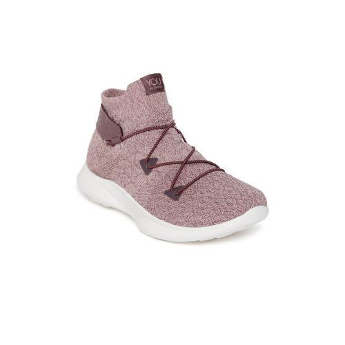 Skechers Women Mauve Mesh SERENE - ADORNED Mid-Top Walking Shoes