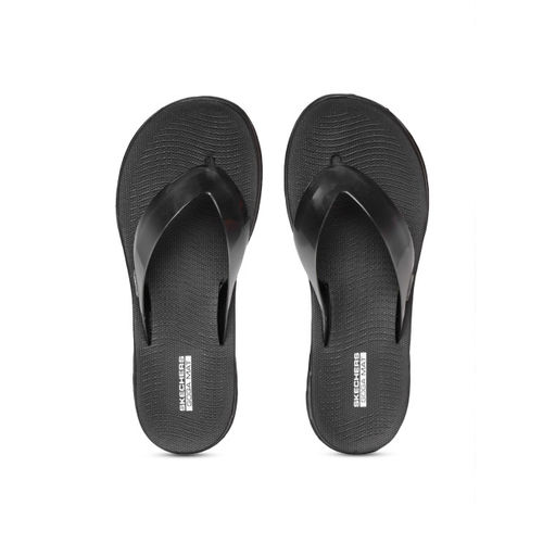 Skechers Women Black Nextwave Ultra Solid Thong Flip-Flops