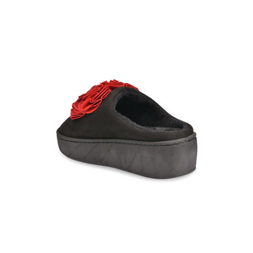 Shoetopia Women Red Suede Slip-On Sneakers