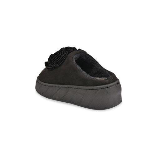 Shoetopia Women Black Suede Slip-On Sneakers