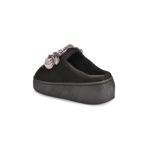 Shoetopia Women Grey Suede Slip-On Sneakers