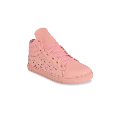 Shoetopia Women Pink Sneakers