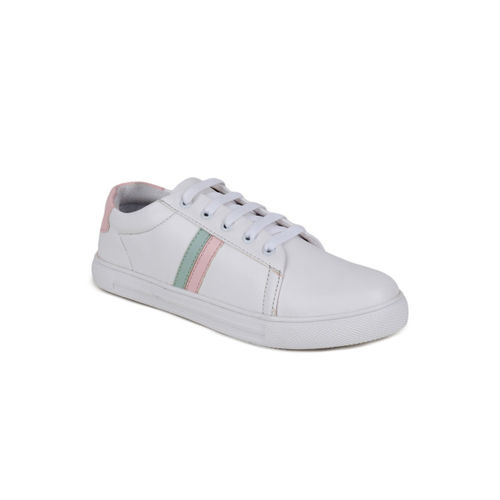 Shoetopia Women Off-White Sneakers