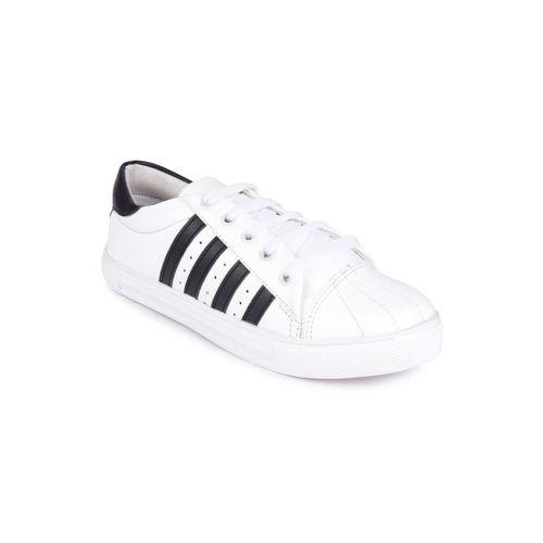 Shoetopia Women White Sneakers