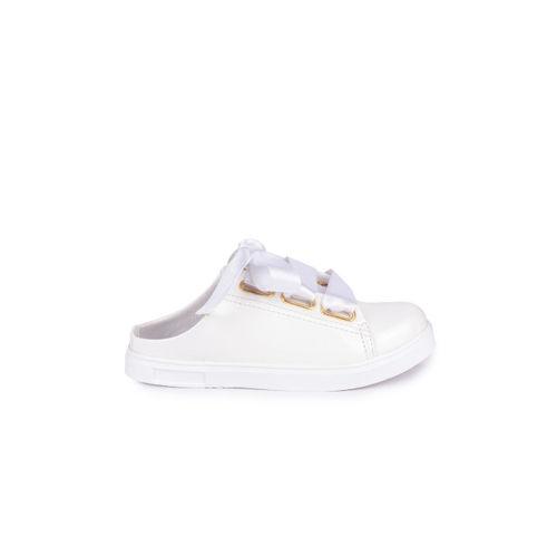 Shoetopia Women White Slip-On Sneakers