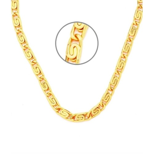 J S Imitation Jewellery 23K Yellow Gold Plated Metal Chain
