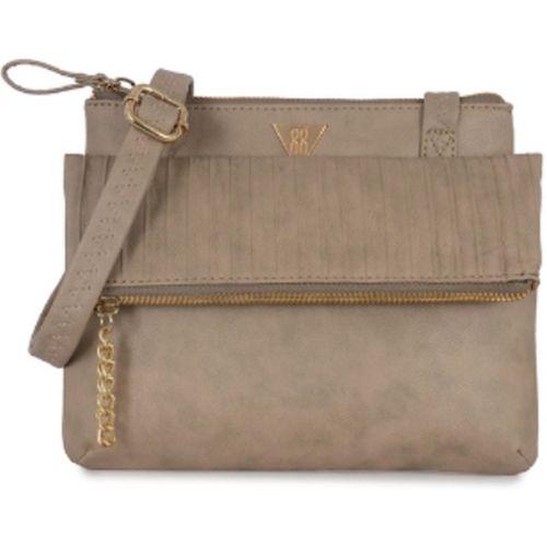 Baggit Women Casual Beige PU Sling Bag