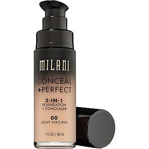 Milani Conceal Perfect 2 in 1 Foundation Concealer, Light Natural, 30ml
