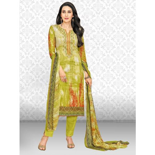 Divastri Polycotton Printed, Embroidered Salwar Suit Material(Unstitched)